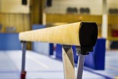 Gymnastisk utrustning i en idrottshall royaltyfria bilder