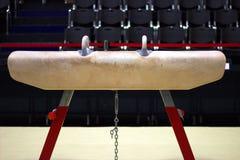 Gymnastisk utrustning i en gymnastisk klubba Royaltyfria Foton
