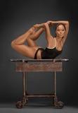 gymnastiska gimmickar fotografering för bildbyråer