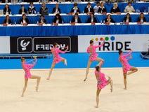 gymnastiska rytmiska russia Royaltyfri Bild