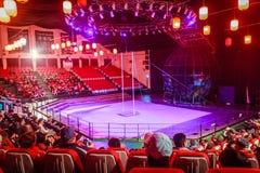 Gymnastiska shower för Jeju cirkusvärld Arkivfoton