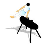 gymnastiskt Royaltyfri Illustrationer