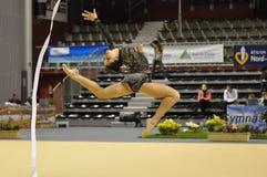gymnastiskt rythmic Arkivbild