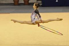gymnastiskt rythmic Fotografering för Bildbyråer