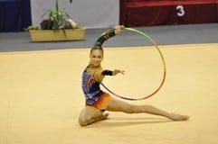 gymnastiskt rythmic Royaltyfri Foto