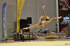 gymnastiskt rythmic för donichekaterina Royaltyfri Bild