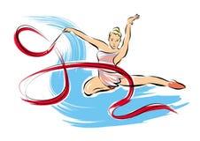gymnastiskt rytmiskt Vektor Illustrationer