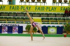 gymnastiskt rytmiskt royaltyfria foton