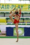 gymnastiskt rytmiskt royaltyfri foto