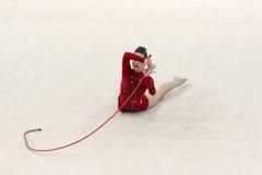 gymnastiskt rytmiskt royaltyfria bilder