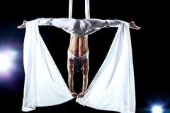 gymnastkvinnabarn Arkivbild