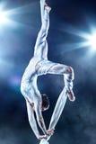 gymnastkvinnabarn Arkivbilder