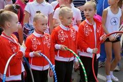 gymnasts νεολαίες Στοκ φωτογραφία με δικαίωμα ελεύθερης χρήσης