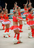gymnasts παιδιών Στοκ φωτογραφίες με δικαίωμα ελεύθερης χρήσης