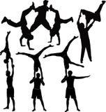 Gymnasts acrobats Stock Image