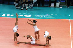 Gymnasts dance Royalty Free Stock Photo