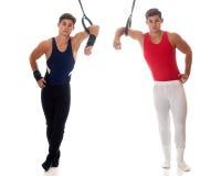 Gymnasts masculinos Fotos de Stock Royalty Free