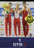 Gymnasts with medals. Stock Photography