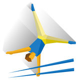 Gymnasts performing a routine on parallel bars. Athlete isolated on white background with shadows. International sport games infographic. Artistic Gymnastics Royalty Free Stock Photo