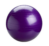 Gyms Ball In Violet Color Royalty Free Stock Photo