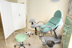 Gynecological  chair  health clinic center Royalty Free Stock Photo