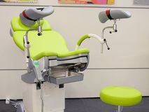 Gynecological chair. Image of A gynecological chair royalty free stock images