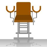 Gynecological chair Royalty Free Stock Image