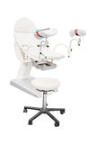 Gynecological chair. Under the white background Stock Photo
