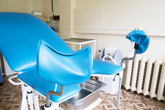Gynecological room with chair and equipment. Photo of Gynecological room with chair and equipment Stock Images