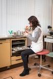 Gynecologist działanie fotografia stock
