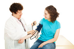 Gynecologist Taking Blood Pressure Royalty Free Stock Photo