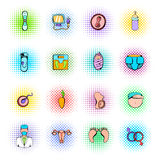 Gynecology icons set. In pop art style for any design Royalty Free Stock Photos