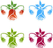 Gynecology logo, flowers. Royalty Free Stock Photo