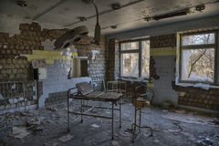 Gynecology lost. Gynecology room in one of the hospital in chernobyl Stock Image