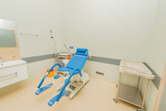 Gynecology room in the hospital. The gynecology room in the hospital royalty free stock photography
