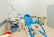 Gynecology room in the hospital. The gynecology room in the hospital royalty free stock images