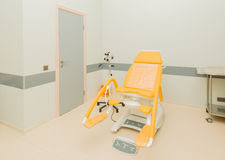 Gynecology room in the hospital. The gynecology room in the hospital royalty free stock photo