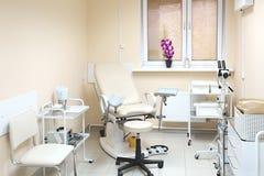 gynekologisk stol Fotografering för Bildbyråer