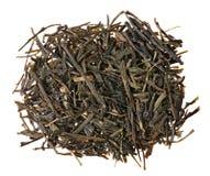 Gyokuro被隔绝的绿茶堆 免版税库存图片