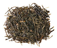 Gyokuro green tea heap isolated Royalty Free Stock Image