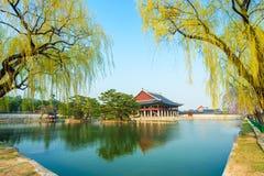 Gyeongbokgung Palace in spring,Korea. Royalty Free Stock Photos