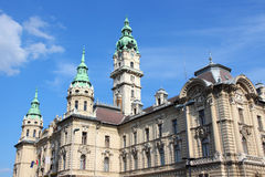 Gyor, Hungary. City in Western Transdanubia region. City hall building royalty free stock photos