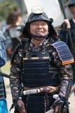 gyoretsu kanra musha游行城镇战士 免版税库存照片
