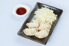 Gyoza (Dry-Fried Dumplings) Royalty Free Stock Photography