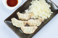 Gyoza (Dry-Fried Dumplings) Stock Image