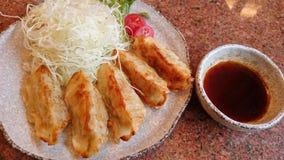 Gyoza. Food dumplings chinese-food vegetable stock photos