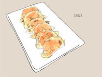Gyoza frito Fotografía de archivo