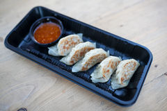 Gyoza ,Japanese style dumplins Royalty Free Stock Photo