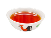 Gyoza red chili oil dipping sauce Royalty Free Stock Images