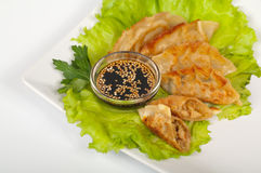 Gyoza with shrimp Royalty Free Stock Image